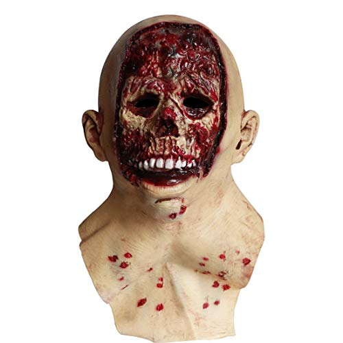 Waltz&F Halloween Horror Rotten mask Zombie Horror Latex mask Disgusting Facial Bloody Zombie mask]()