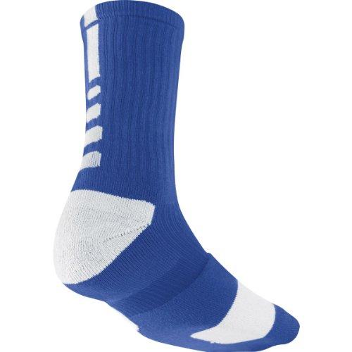 Nike Men's Elite Basketball Crew Socks Style SX3692-441 Size Medium Royal/White/White - Basketball Mens Socks