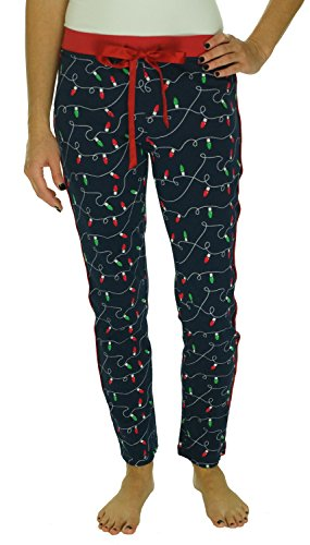 Nautica Slim Pajama Pants, Navy Christmas Lights