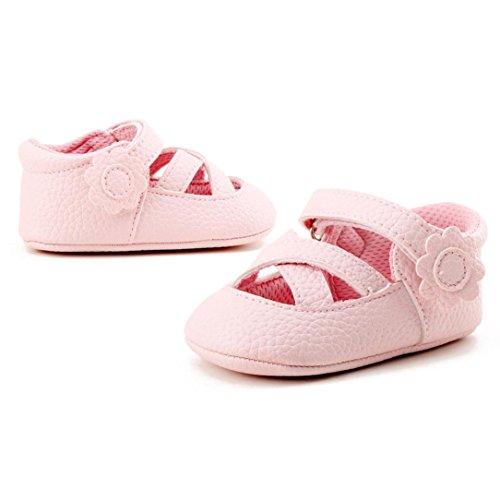 Bebé Zapatos, OverDose Los zapatos de bebé suaves de la muchacha de la primavera del resorte forman a niños los zapatos de las flores Rosa