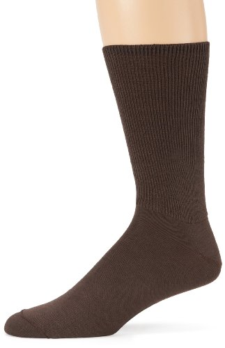 Diabetic Seamfree Socks (Wigwam Men's Diabetic Walker Crew Length Sock, Brown, Large)