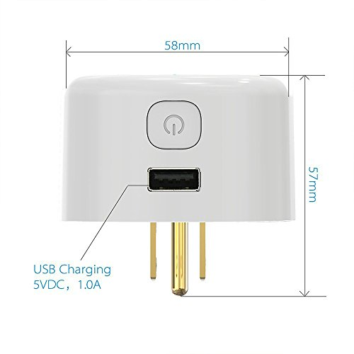 Wi-Fi Mini Timing Smart Plug, With USB Outlet, No Control Center, On the Phone Through the APP Control Device Switch, UL Certification & FCC,RoHs,Work With Amazon Alexa & Google Home by purui (Image #1)