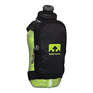 Nathan SpeedShot Plus Insulated Handheld Flask, Black/Safety Yellow, One Size