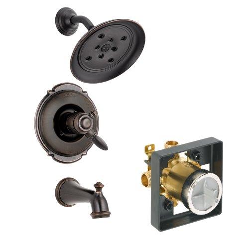 Delta Delta KTSDVI-T17455H2O-RB Victorian Tub/Shower Kit Pressure-Balance Dual-Function Cartridge, Venetian Bronze Venetian Bronze