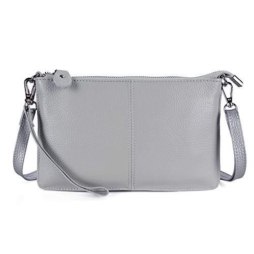 Befen Women's Smartphone Leather Wristlet Crossbody Wallet Clutch with Crossbody Strap/Wrist Strap - Light -