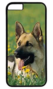 Herding Dog Happily Sitting on Grrass DIY Hard Shell Black Best Designed iphone 6 plus Case