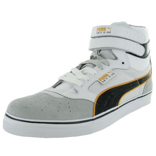 Puma Heren Sky High Vulc Sneaker Schoen Wit / Grijs Violet / Zwart / Flame Orange