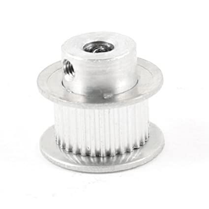 eDealMax tono de plata de aleación de aluminio 30 dientes piloto de 6 mm Bore atornillado Polea - - Amazon.com
