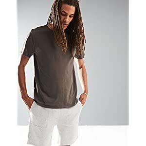 Rebel Canyon Young Men's Short Sleeve Crewneck Enzyme Washed Cotton T-Shirt X-Large Dark Charcoal