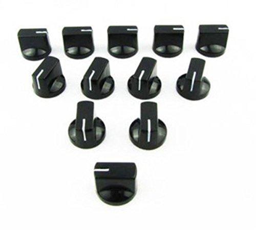 0.75' Knob - 24pcs AMP Knobs Guitar Effect Pedal Knobs Black Flat Pointer Knobs Plastic by AdvancedShop