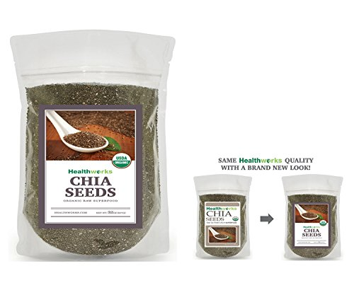 Healthworks Organic Chia Seeds 2 Pounds