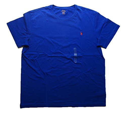 Ralph Lauren Men's Pony Logo T-Shirt (Large, Blue (Orange - And Lauren Orange Ralph Polo Blue