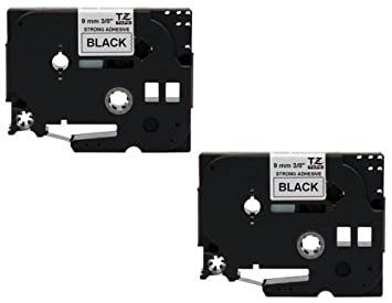 4 Farband Schwarz auf weiß für TZ-221 Brother P touch 1250s 1960 3600 H75S 320