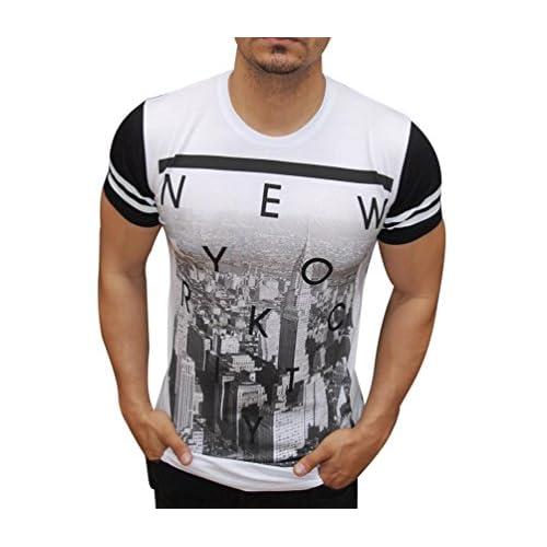 Ketamyy Homme Col Rond Coton Personnalité Impression Auto-Culture T-Shirt