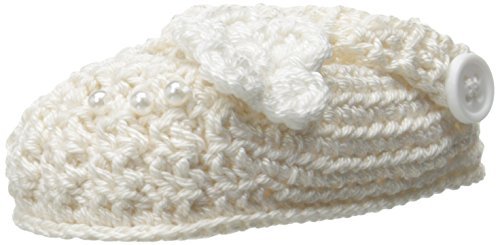 Ivory Booties - Jefferies Socks Baby Girls' Newborn Delicate Flower Crochet Bootie, Ivory,