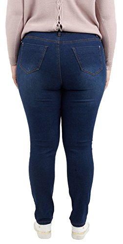 5 Pantalon les Dark Empocher Denim Nouveau Stretchy pantaloons Maigre Taille 50 44 Chocolate Dames jeans Pickle Plus Denim aPxXa7q