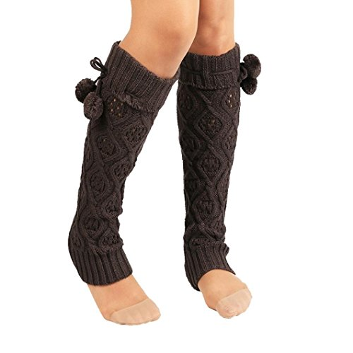 Socks Women, Liraly Winter Warm Knitted Socks Leg Warmers Boot Crochet Long (Dark Gray) from Liraly