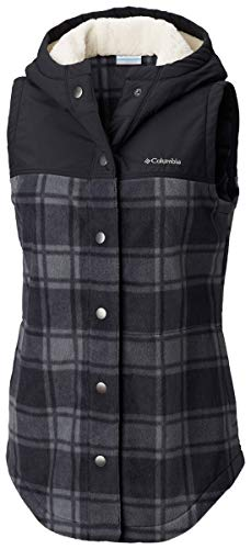 - Columbia Women's Benton Springs Overlay Vest, Black Buffalo Print L