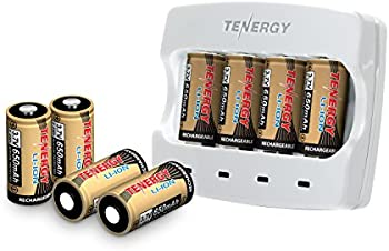 Tenergy 3.7V Arlo Battery Fast Charger and 8pk 650mAh Batteries