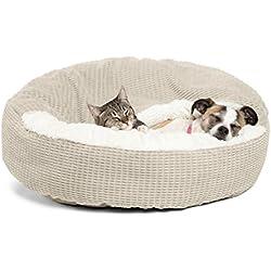 "Best Friends by Sheri Cozy Cuddler in Mason Dog/Cat Bed, 26"" x 26"", Oyster"