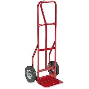 Safco dos ruedas rojo acero carretilla de mano 500lb for Carretilla dos ruedas mano