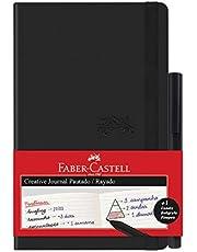 Caderno Pautado + Fine Pen, Faber-Castell, Creative Journal, CDNETA/PR, 84 Folhas, Preto