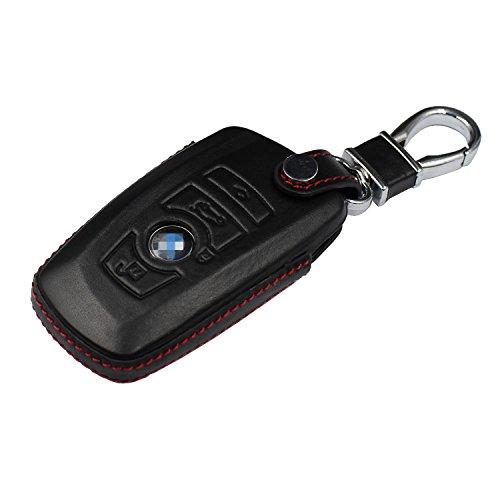 M.JVisun Sleutelhangers voor autosleutels BMW, echt lederen sleutelhanger cover voor BMW Smart Key Leather Fob Case voor…