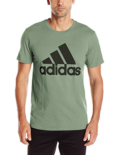 adidas Men's Athletics Graphic Tee, Trace Green /Black/Bos Classic, X-Large