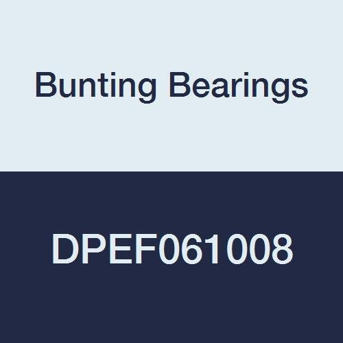 Bunting Bearings DPEF061008 Dri Plane (C) Flange Bearings, Powdered Metal, 3/8