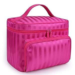 SODIAL Rose Red Shape Big Capacity Women Cosmetic Bag Cosmetics Organizer Travel Necessaries Waterproof Makeup Bag Multifunction Toiletry Makeup Bag