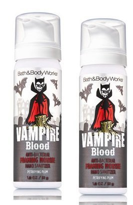 Bath and Body Works 2 Pack Vampire Blood (Petrifying Plum) Foaming Hand Sanitizer 1.8 Oz