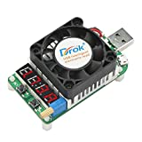 USB Load Tester, DROK Electronic Load Test Resistor Module 25W LD25 USB & Type C Interface Discharge Adjustable Constant Current 0.25A-4A Intelligent Temperature Control with Cooling Fan
