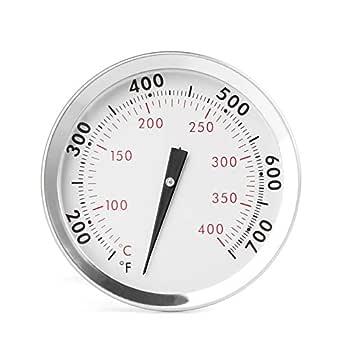 langlebiger Ersatz f/ür Weber 67088 2005/–2016 einfache Installation GASPRO Pr/äzises Thermometer f/ür Weber Genesis 300 Grills und Summit 2007/–2016 6,5 cm Durchmesser