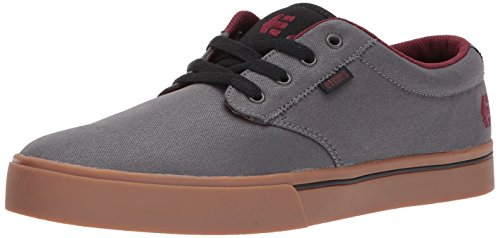 Etnies Mens Men's Jameson 2 Eco Skate Shoe, Grey/Gum/Red, 12 Medium US (2 Mens Skateboard Shoes)