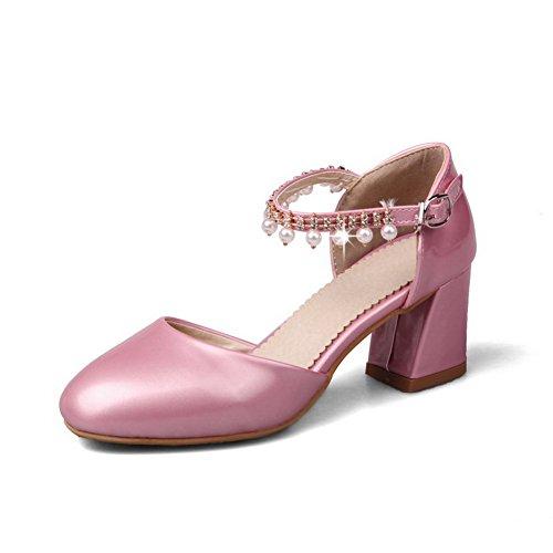 Inconnu Femme 1TO9 Sandales Compensées Rose 4v4trwPZWq