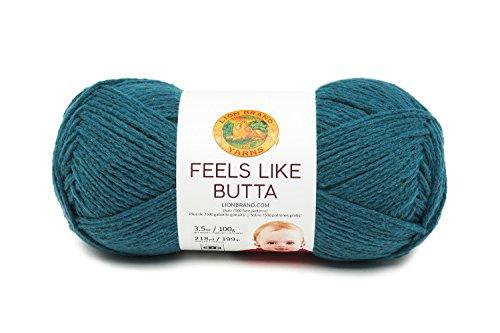 Lion Brand Yarn 215-157 Feels Like Butta Yarn, Yellow