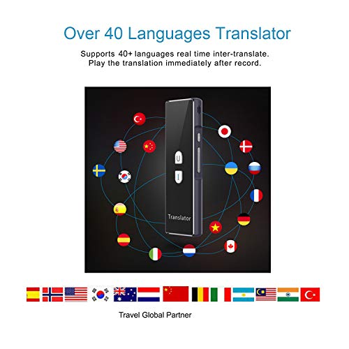 Mini Smart Language Translator Device, 40 Languages Real-time Speech/Text Translation Device with APP for International Travel Business Language Study English Chinese French German by TEEPAO (Image #2)