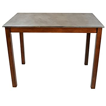 Carolina Cottage Carter Stainless Steel Top Bar Table Part 93