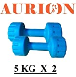 Aurion Set of 2 PVC Dumbbells Weights Fitness Home Gym Exercise Barbell for Women & Men's Fix Dumbbell Set