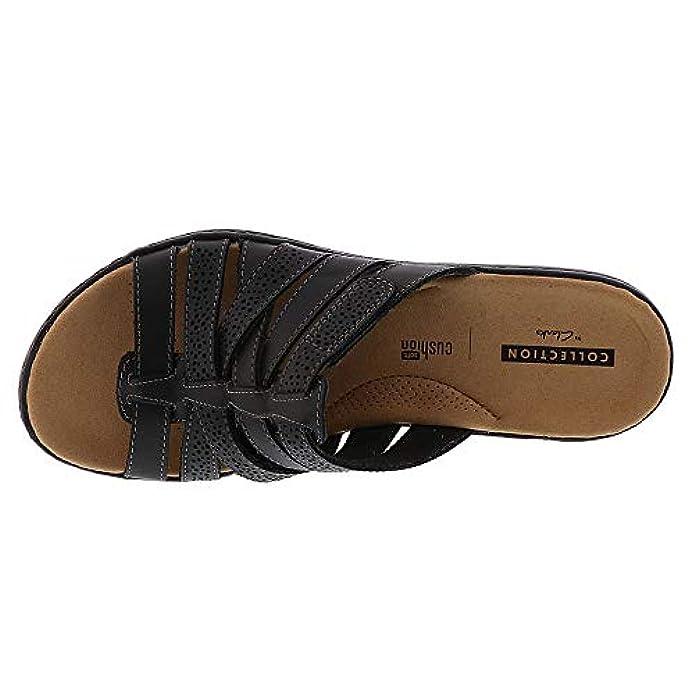 Scarpe E Borse Da Donna Sandali Clarks Women's Leisa Field Black Leather 9 A Us