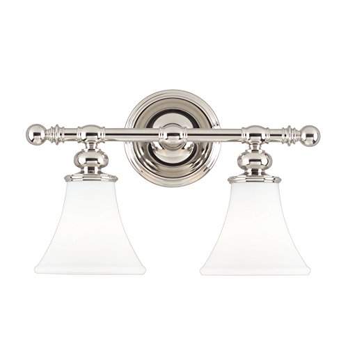 Hudson Valley Lighting 4502-PN Two Light Bath Bracket from The Weston Collection, 2, Polished -