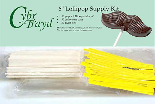 Cybrtrayd 6StK50E 50 6-Inch Easter Lollipop Stick Bundle wit