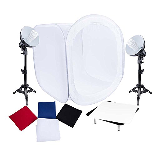 Interfit FLU102 Studio Essentials Low-Profile - Table Top Product Photography Studio Kit, Black by Interfit