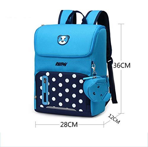NEW Backpack Girl Zipper Kid School Bag Cute Children School Bag Blue Small