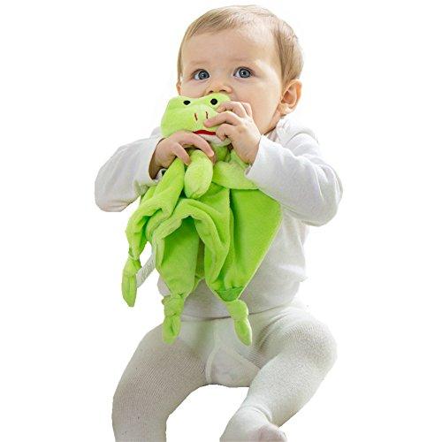 Gemini Fairy Cuddle Plush Lovely Animal Baby Blanket Security Blanket (Frog) (Frog Baby Security Blanket)