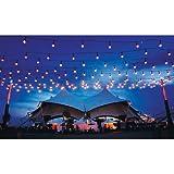 Zilotek Commercial Light Indoor/Outdoor with 24 Light Sockets, 48-Feet (24 Incandescent Bulbs + 12 Spares included)