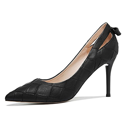 PUMPS Lady Pointed Shoes,Stiletto Heels,Flache Mund Hundert Schuhe-A Fußlänge=21.8CM(8.6Inch)