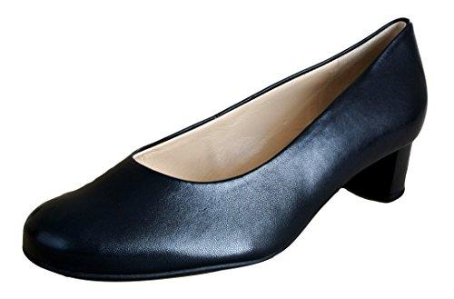 Hogl de las mujeres azul marino zapatos de tacón tamaño 4