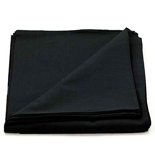 - Paisley One Dozen Cowboy Bandanas (Plain Black, 22 X 22 in)