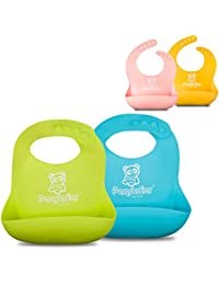 Set of 2 Cute Silicone Baby Bibs for Babies & Toddlers...